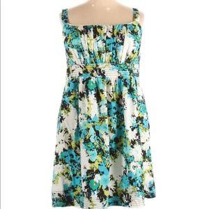 Dress Barn Floral Sleeveless Cotton Mini Dress 20